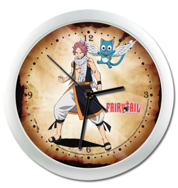 Natsu and Happy Fairy Tail Wall Clock