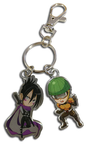 Sonic and Mumen Rider One-Punch Man Metal Keychain