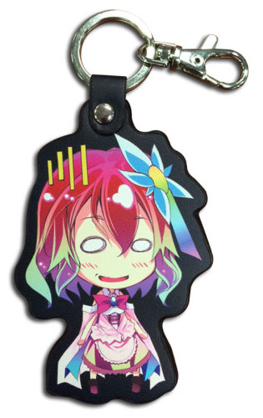 Steph Chibi No Game No Life Keychain PU Leather