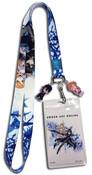 Kirito and Asuna Sword Art Online Blue/White Lanyard