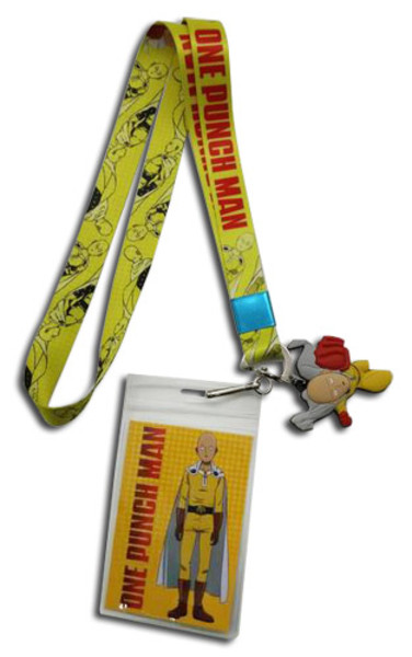 Saitama All Over One-Punch Man Lanyard