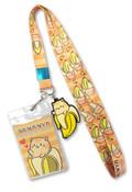 Tabby Cat Bananya Lanyard