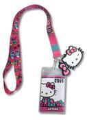 Winking Hello Kitty Lanyard