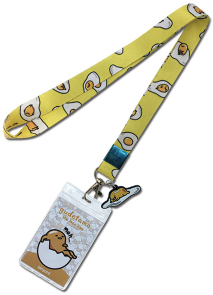Gudetama Lazy Egg Meh with Charm Lanyard