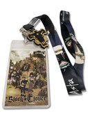 Asta Black Clover Lanyard with Black Bull Charm