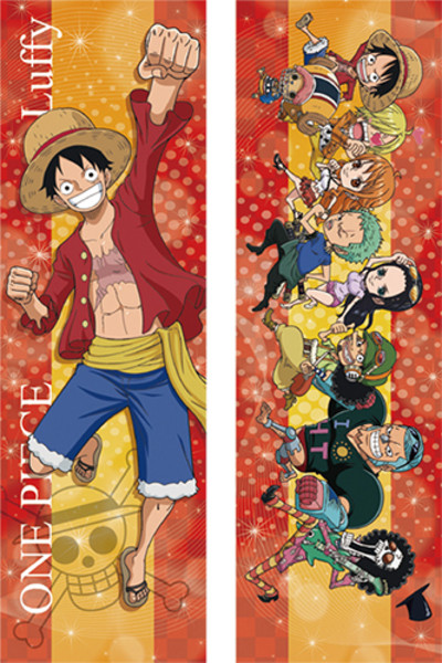 Luffy and Chibi Crew One Piece Body Pillow Case