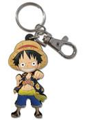 Monkey D Luffy Dressrosa Arc One Piece PVC Keychain