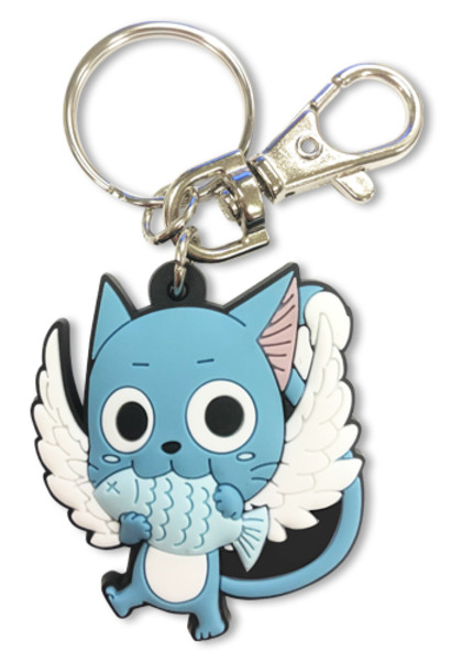 Happy with Fish Fairy Tail PVC Keychain