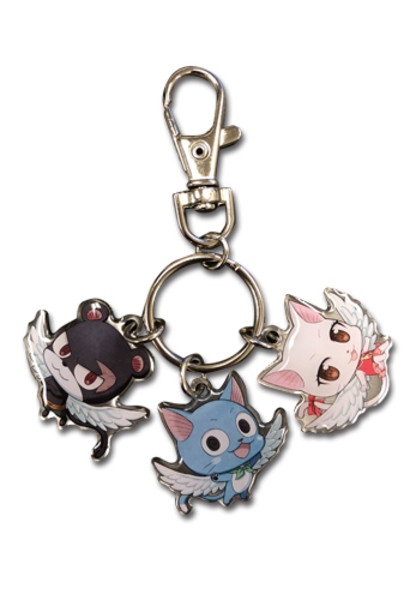 Pantherlily Happy and Carla Fairy Tail Metal Keychain