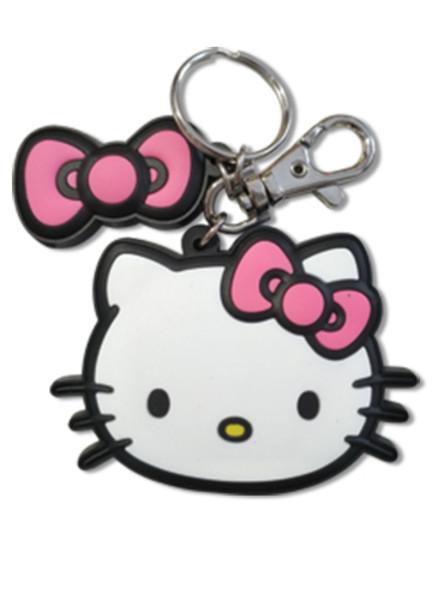 Pink Bow Charm Hello Kitty PVC Keychain