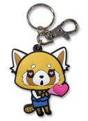 Retsuko In Love Aggretsuko PVC Keychain