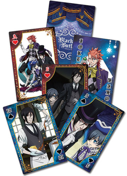 Black Butler Book of Circus Playing Cards