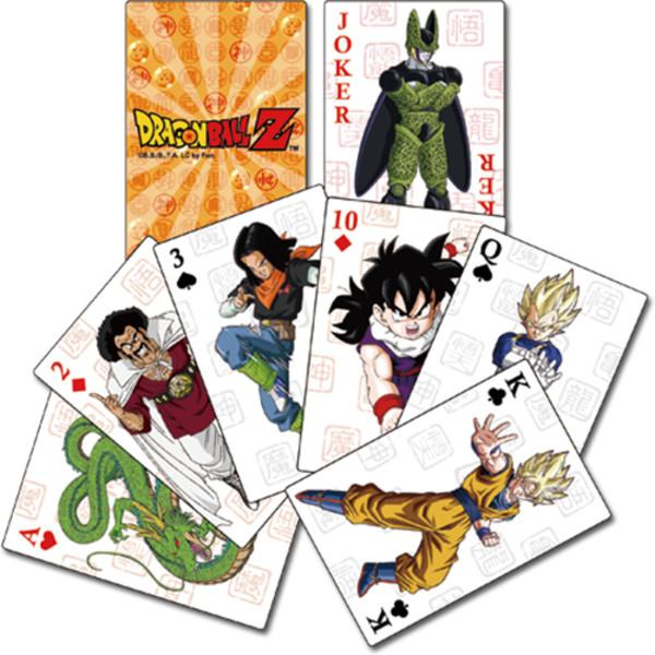 Dragon Ball Z Orange Back Playing Cards