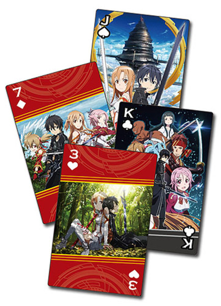 Group Sword Art Online Playing Cards