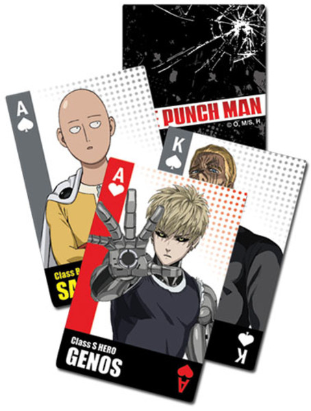 Power Packed One Punch Man Playing Cards