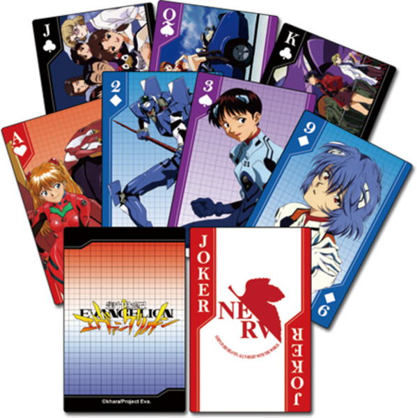 Neon Genesis Evangelion Group Playing Cards