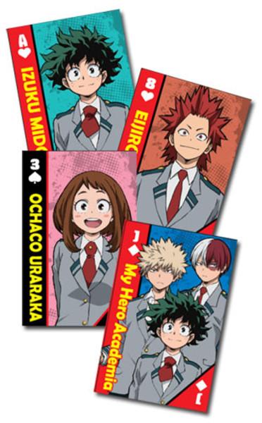 School Uniforms My Hero Academia Playing Cards
