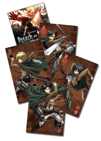Attack on Titan Season 2 Playing Cards