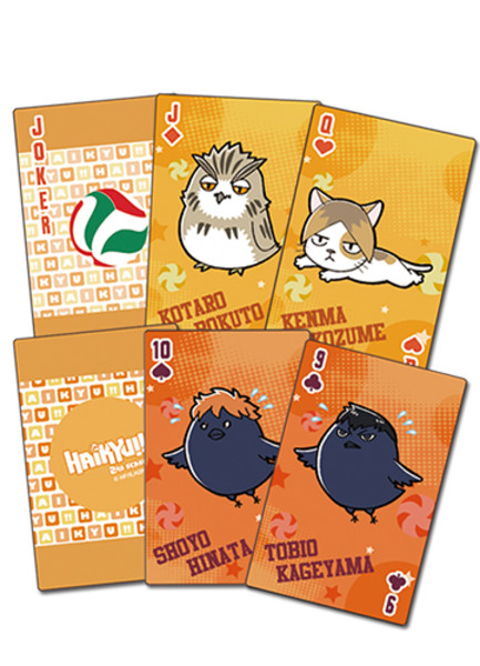 Animals On The Court Haikyu!! Playing Cards