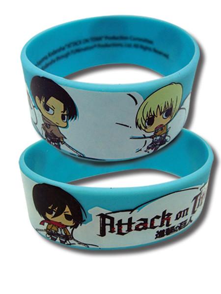 Attack on Titan Chibi Group Wristband