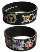 Straw Hat Crew Jolly Rogers One Piece Wristband
