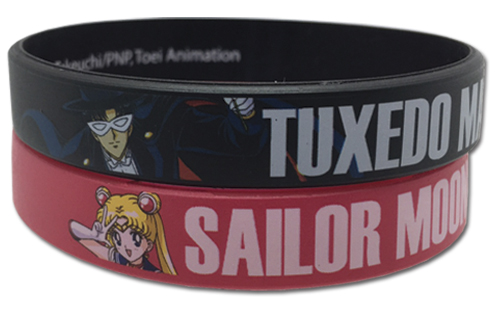 Sailor Moon and Tuxdeo Mask Sailor Moon 2 Pack PVC Wristband Set 699858543885