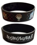 Chibi Group Black Konosuba Wristband