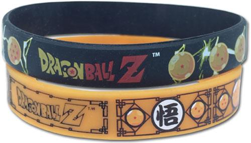 Seven Dragon Balls Dragon Ball Z 2 Pack PVC Wristband Set 699858544486