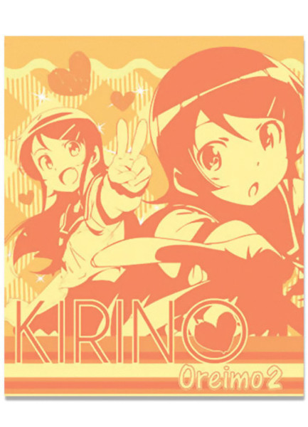 Kirino in Orange Oreimo Throw Blanket