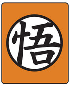 Goku Symbol Dragon Ball Z Throw Blanket