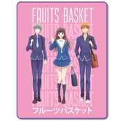 Tohru and the Boys Fruits Basket Throw Blanket