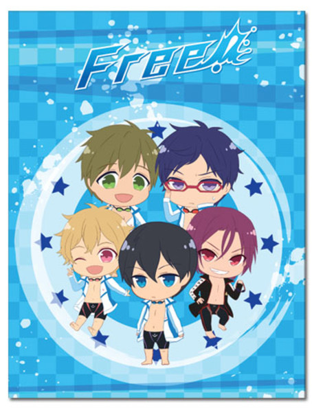 Chibi Group Free! Throw Blanket