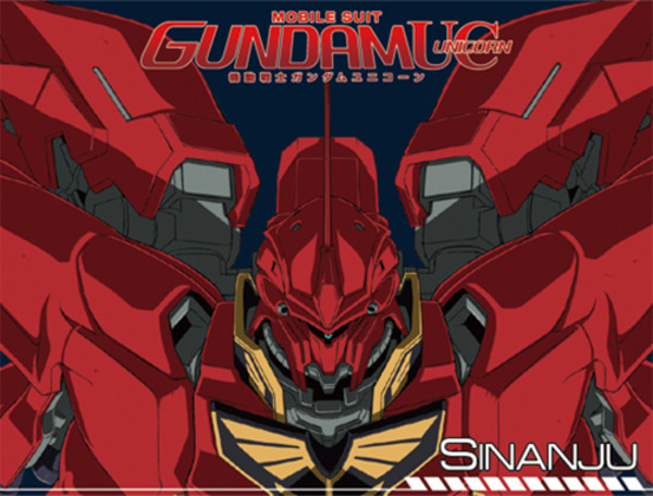 Gundam UC Sinanju Sublimation Throw Blanket