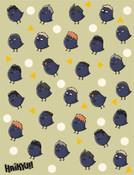 Karasuno Chibi Crows Haikyu!! Throw Blanket