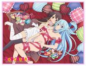 Aqua and Megumin Konosuba Throw Blanket