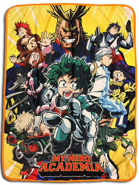 Group Burst My Hero Academia Throw Blanket