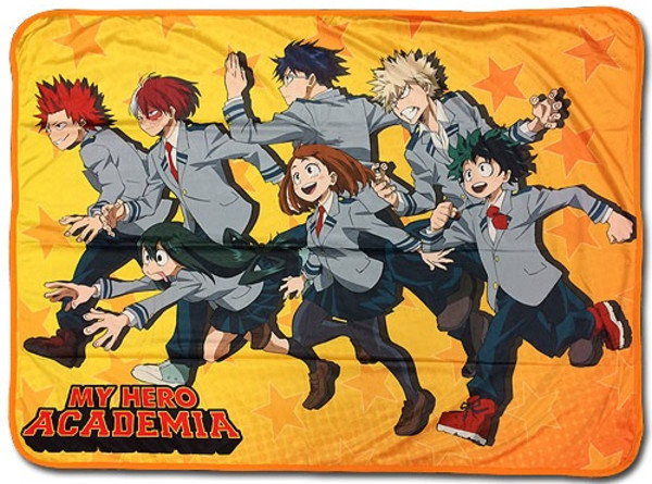 Group Run My Hero Academia Throw Blanket
