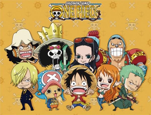 Chibi Group One Piece Throw Blanket