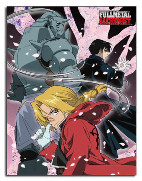 Edward Alphonse and Roy Fullmetal Alchemist Throw Blanket