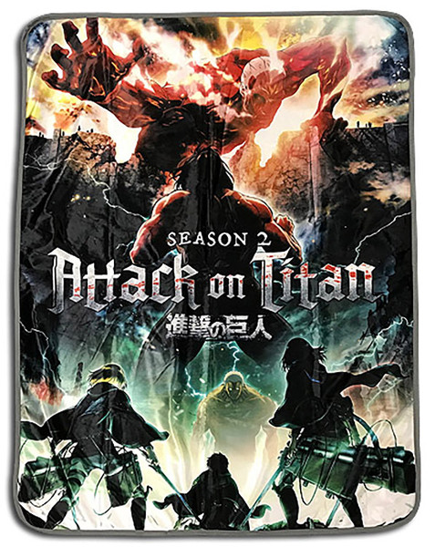 Defending the Wall Attack on Titan Throw Blanket