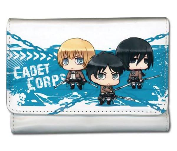 Eren, Armin, & Mikasa Attack on Titan Wallet