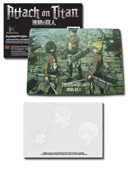 Group Attack on Titan Memo Pad