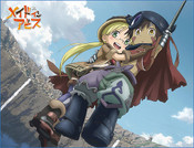Riko and Reg Descending Made in Abyss Throw Blanket