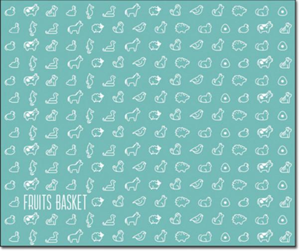 Chinese Zodiac Fruits Basket Throw Blanket