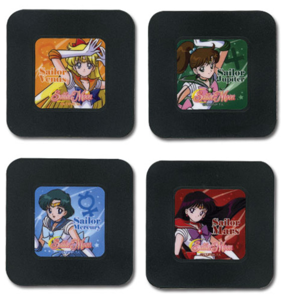 Inner Senshi Sailor Moon Coaster Set