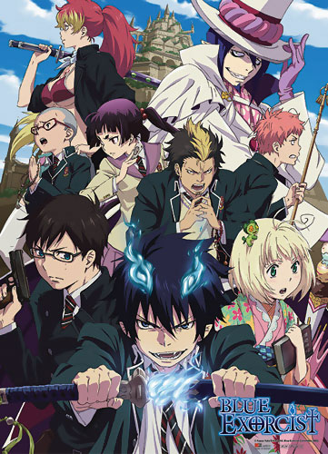 Blue Exorcist Fabric Poster: Group (31 x 43 in)