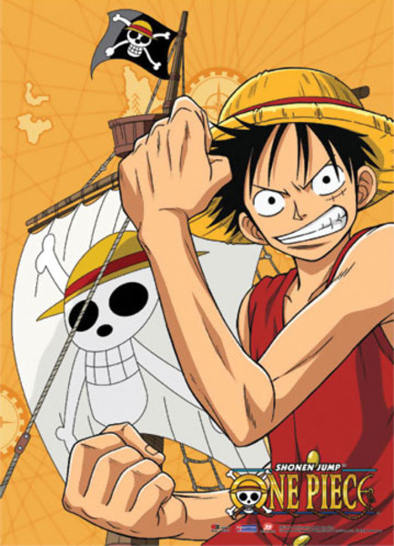 Luffy One Piece Fabric Poster