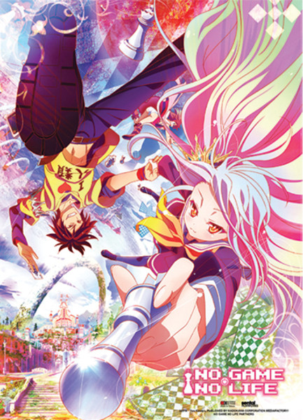 Falling Into Play No Game No Life Fabric Poster