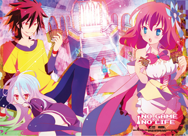 Sora Shiro & Steph Ongoing Card Game No Game No Life Fabric Poster