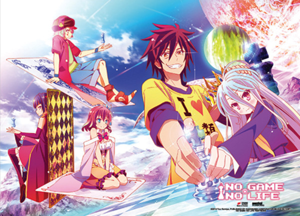 Chess No Game No Life Fabric Poster